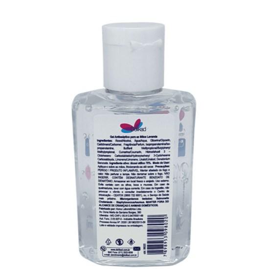 Álcool em Gel 70% Antisséptico para as Mãos - Lavanda - Delikad - 80ml