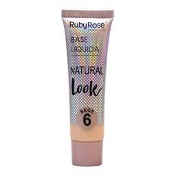 Base Líquida Natural Look Bege Ruby Rose - 29ml