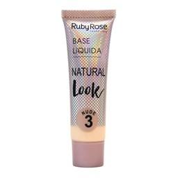 Base Líquida Natural Look Nude Ruby Rose - 29ml