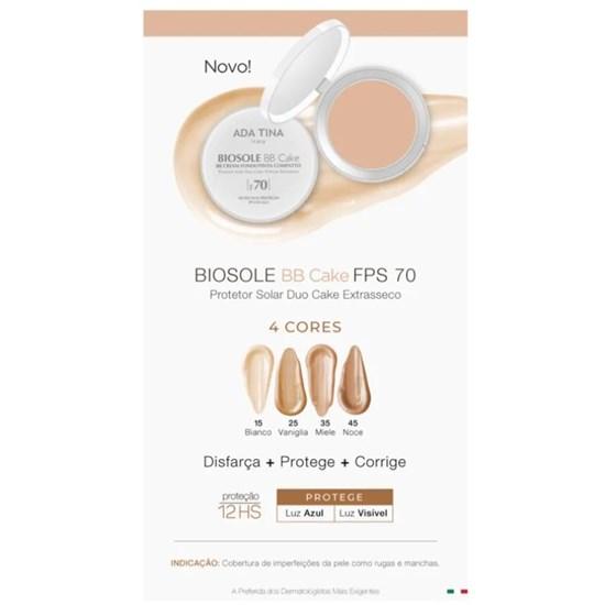 BB Cream Antienvelhecimento Biosole BB Cake com Protetor Solar Facial FPS 70 - Ada Tina - Bianco 15