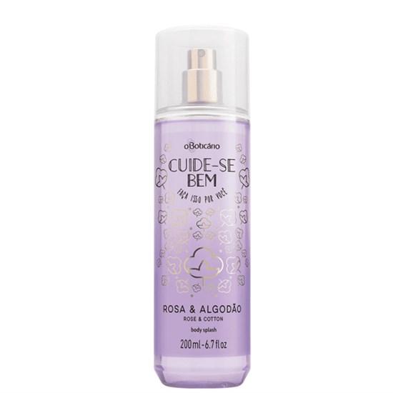 Body Splash Desodorante Colônia - Cuide-se Bem - Rosa e Algodão - Boticário - 200ml
