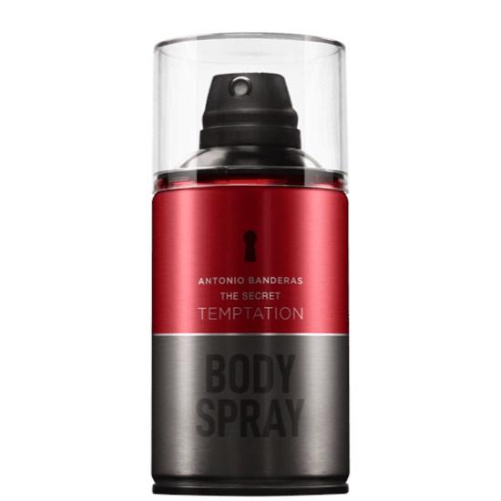 Body Spray The Secret Temptation - Antonio Banderas - Masculino - 250ml