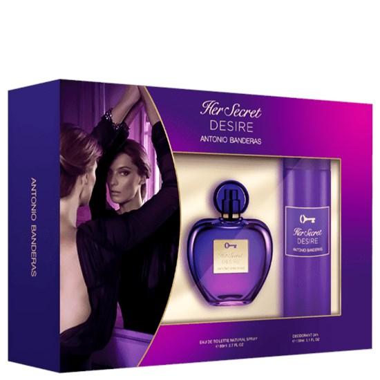 Conjunto Her Secret Desire - Antonio Banderas - Feminino - Perfume 80ml + Desodorante 150ml