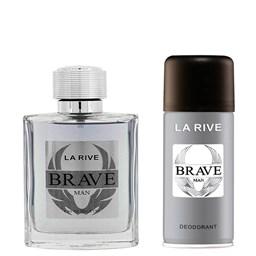 Conjunto Perfume Brave - La Rive - Perfume EDT 100ml + Desodorante 150ml