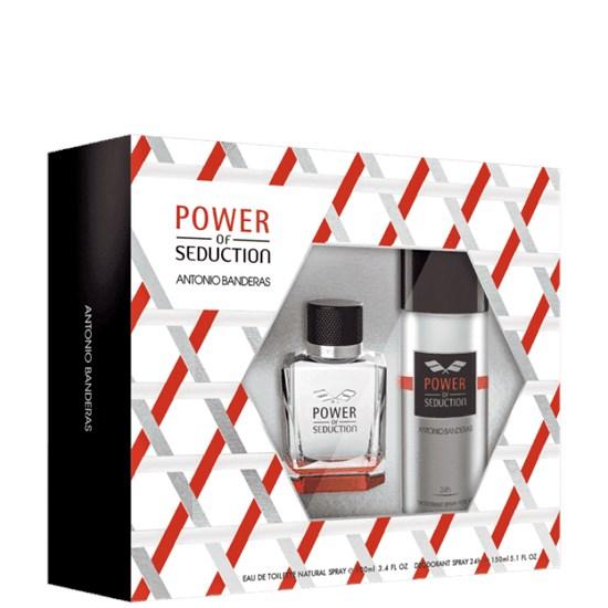 Conjunto Power of Seduction - Antonio Banderas - Masculino - Perfume 100ml + Desodorante 150ml