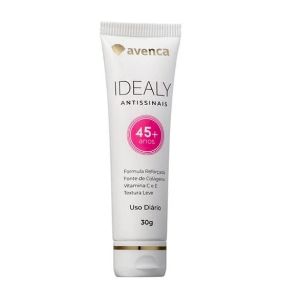 Creme Anti-Idade Idealy 45+ Antissinais - Avenca - 30g