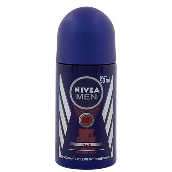 Desodorante Antitranspirante Roll-On Men Dry Impact - Nivea - 50ml
