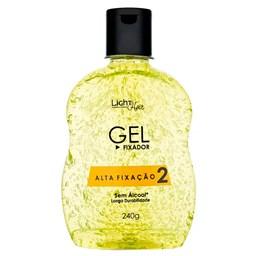 Gel Alta Fixação Capilar - Light Hair - 240ml