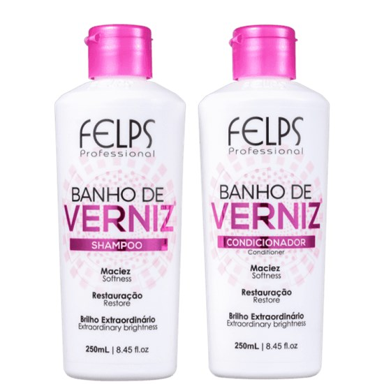 Kit Banho de Verniz - Felps Profissional - Shampoo 250ml + Condicionador 250ml
