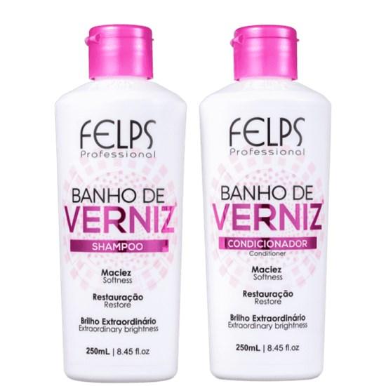Kit Banho de Verniz - Felps Profissional - Shampoo + Condicionador - 250ML