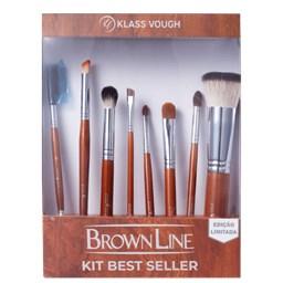Kit de Pincéis Brown Line Edição Limitada Best Seller - Klass Vough - 08 Unidades