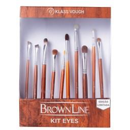Kit de Pincéis Brown Line Eyes Edição Limitada Kit Eyes - Klass Vough - 10 Unidades