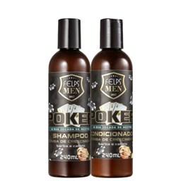 Kit Felps Men Poker - Bomba de Crescimento - Felps Men - Shampoo + Condicionador - 240ML