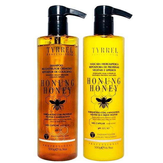 Kit Honung Honey - Tyrrel Professional - Shampoo Reconstrutor 500g + Máscara Hidrolipídica 500g