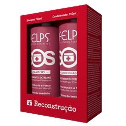 Kit Reconstrutor Capilar SOS - Felps Profissional - Shampoo + Condicionador - 250ML