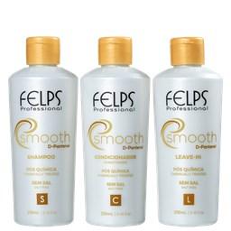 Kit Smooth D-Pantenol - Felps Profissional - Shampoo + Condicionador + Leave-in - 250ML