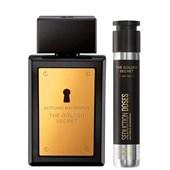 Produto Kit The Golden Secret - Antonio Banderas - Masculino - Perfume + Doses - 30ml