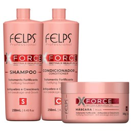 Kit X-Force Tratamento Fortificante - Felps Profissional - 3 Produtos