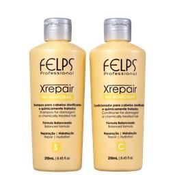 Kit XRepair - Felps Profissional - Shampoo + Condicionador - 250ML