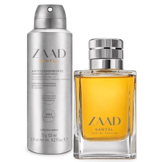 Kit Zaad Santal - O Boticário- Masculino - Eau de Parfum 95ml + Antitranspirante 125ml