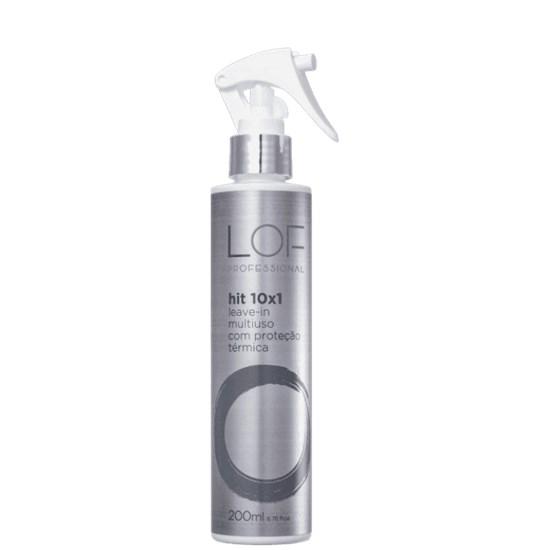 Leave-In Hit 10x1 Multiuso com Proteção Térmica - LOF Professional - 200ml