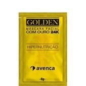 Produto Máscara Facial Hipernutrição Golden 24k  - Avenca - 8g