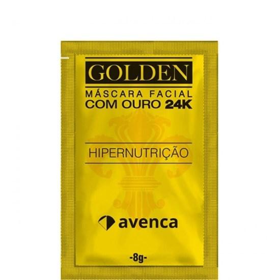 Máscara Facial Hipernutrição Golden 24k  - Avenca - 8g