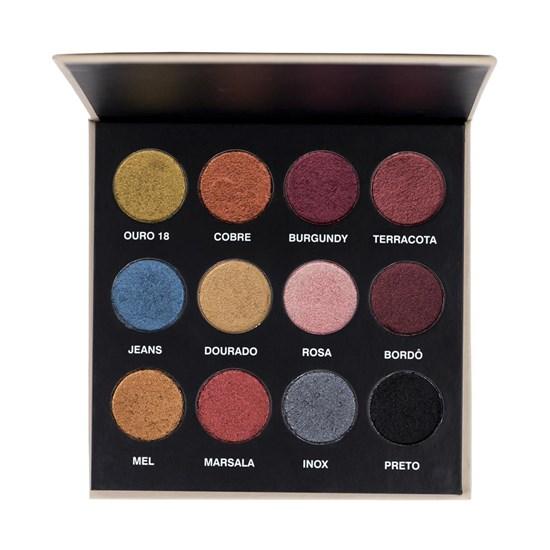 Paleta de Sombras 12 cores em Mousse - Joker - Mahav