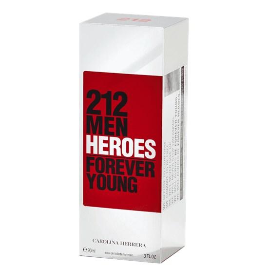 Perfume 212 Men Heroes - Carolina Herrera - Masculino - Eau de Toilette - 90ml