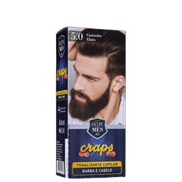 Tonalizante Capilar Craps - Felps Men - 5.0 Castanho Claro - 40ml